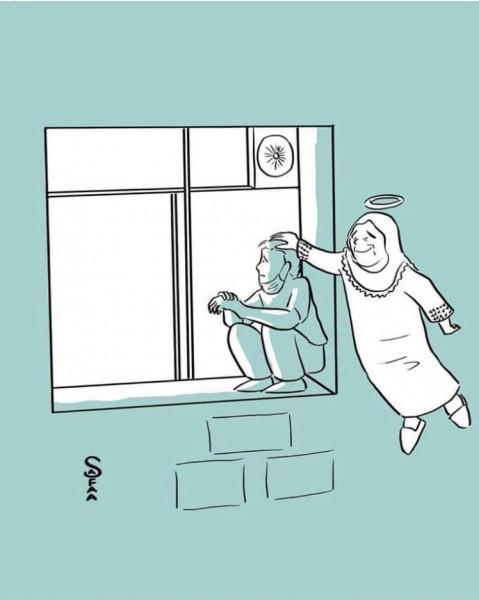 جهاد سويطي يودع والدته