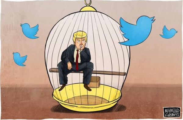 تويتر يحظر ترامب ويمنعه من النشر