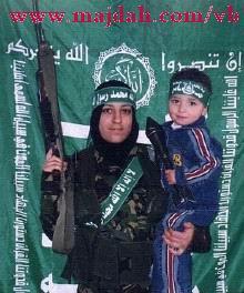 صور لمجندات من حماس يتدربن على السلاح في قطاع غزة 8