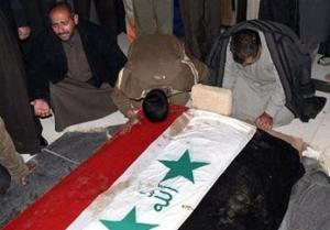صور دفن صدام