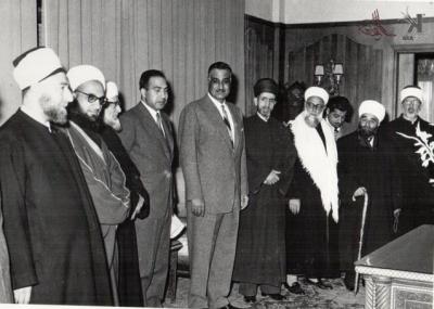 صوراً نادرة للرئيس الراحل جمال عبد الناصر خلال زيارته للمحافظات السورية 12