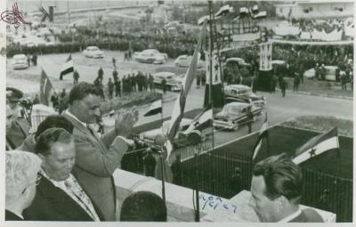 صوراً نادرة للرئيس الراحل جمال عبد الناصر خلال زيارته للمحافظات السورية 17