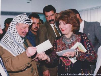 اثواب  فلسطينية ولقاء مع مها السقا بيت لحم 19
