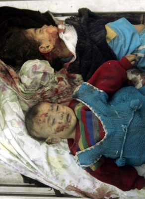 المجزرة الاسرائيلة بلدة حانون