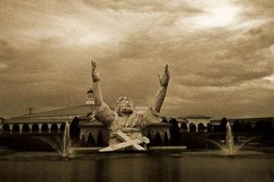 صاعقة من السماء تلتهم تمثال اليسوع في ولاية أوهايو الأمريكية 0745417401