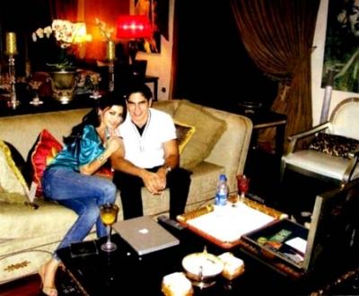 صور هيفاء وهبي وزوجها ابو هشيمة في بيتهم