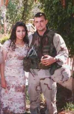 صور حفل زواج جندي امريكي تزوج عراقية في بغداد