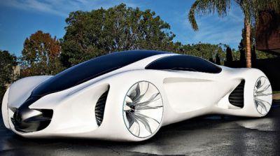 سيارات المستقبل مرسيدس تنمو بذور مزروعة الشجر