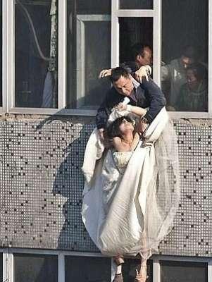 بالصور عروس تحاول الانتحار