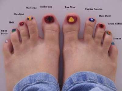 مختلفة لتزيين القدمين