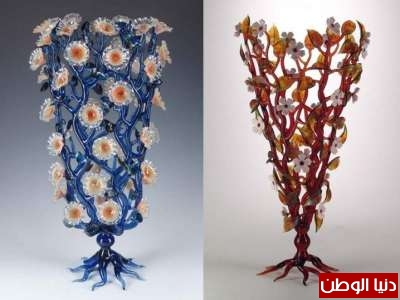 اجمل التحف المصنوعة الزجاج