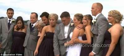 حفل زفاف كاد يتحول إلى مأساة .. صور وفيديو