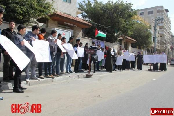 النساء بغزة يبنون خيمات التضامن الاسرى بسواعدهن شاهد الصور 3909890138.jpg