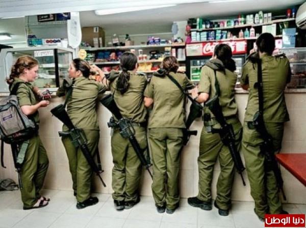 مجندات الجيش الإسرائيلي حدود قطاع 3909928138.jpg