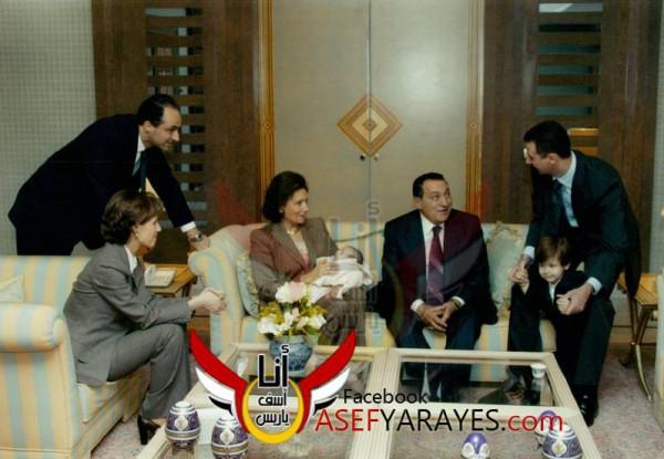 بشار الأسد وحسني مبارك في احتفال عائلي 3909984264.jpg