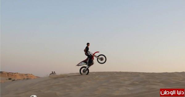 استعراضات لعشاق الدراجات النارية بغزة 3909989694.jpg