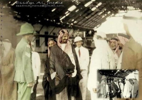 3910018865 صور نادرة للملك عبد العزيز بن عبد الرحمن بن فيصل ال سعود وابناءه