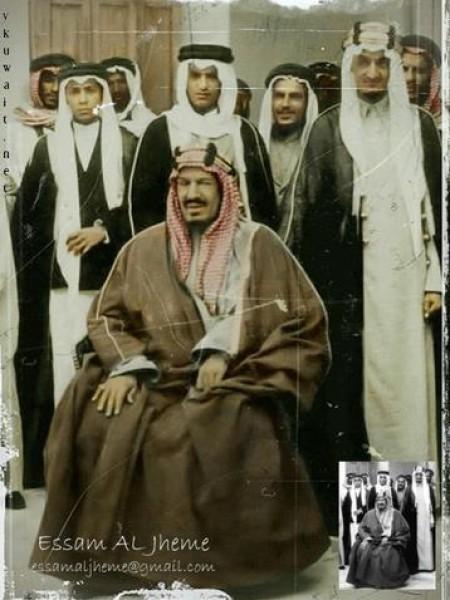3910018870 صور نادرة للملك عبد العزيز بن عبد الرحمن بن فيصل ال سعود وابناءه