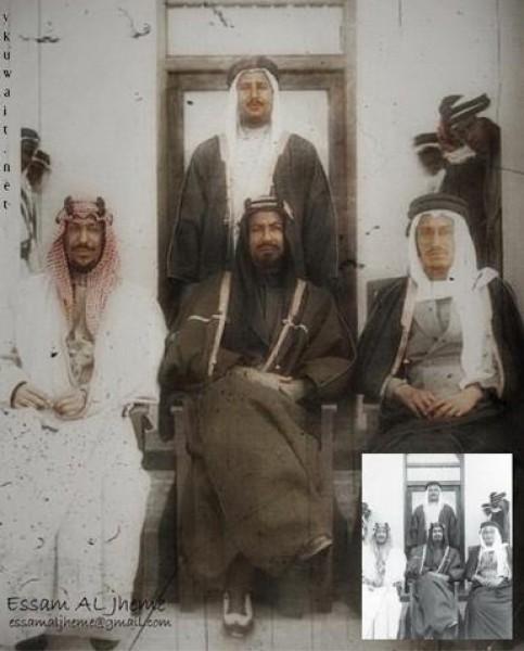 3910018880 صور نادرة للملك عبد العزيز بن عبد الرحمن بن فيصل ال سعود وابناءه