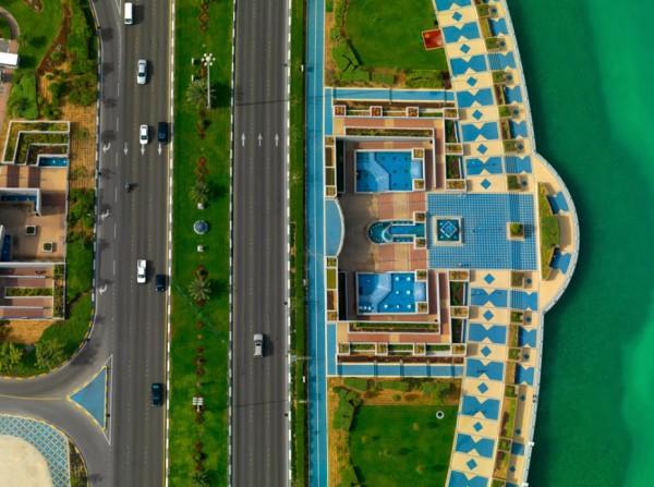 3910053686 صورة مدينة دبي من اعلي من السماء