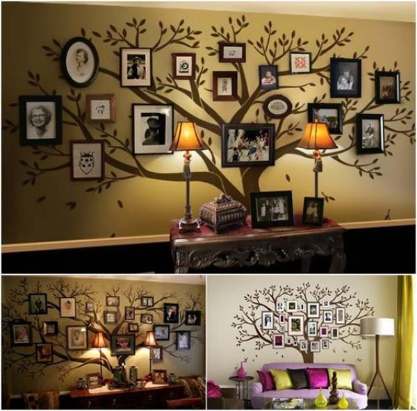 10 أفكار مبتكرة لتزيين جدران المنزل بصور العائلة  3910114137