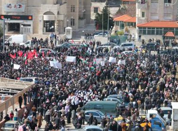 """تظاهرة غاضبة سفارة """"إسرائيل"""" بعمان"""