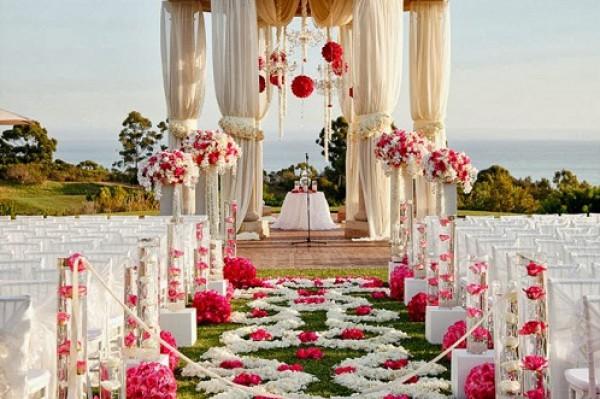 أفكار لزينة مدخل قاعة حفل الزفاف