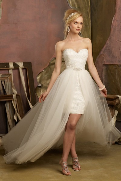 فساتين زفاف 2016 مزودة بتنورة