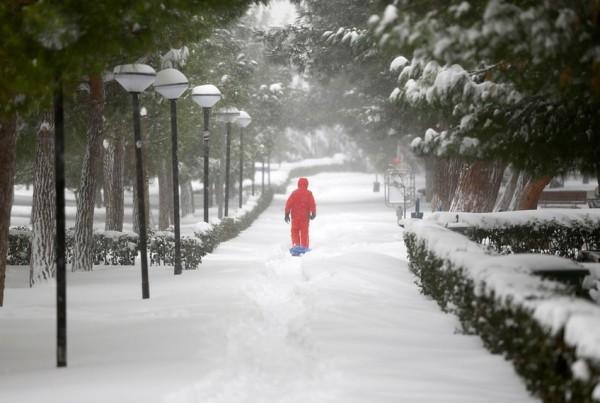 الثلوج تغطي اسطنبول 3910745386
