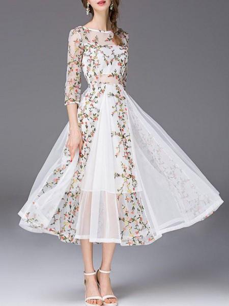 اختاري فستانك المرصع بالورود لاطلالة صيفية جذابة 3910795474