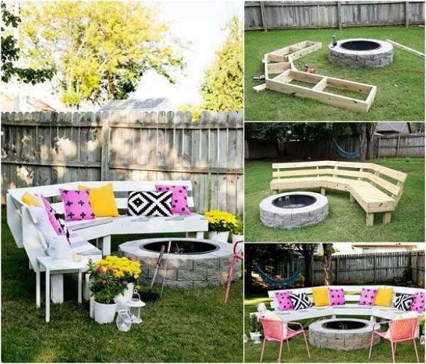 الحديقة المنزلية الصغيرة صور: أفكار مميزة لأريكة بسيطة لحديقة المنزل