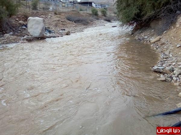 أمطار الخير تزيد من غلة مياه الاودية في الاغوار  3910858019