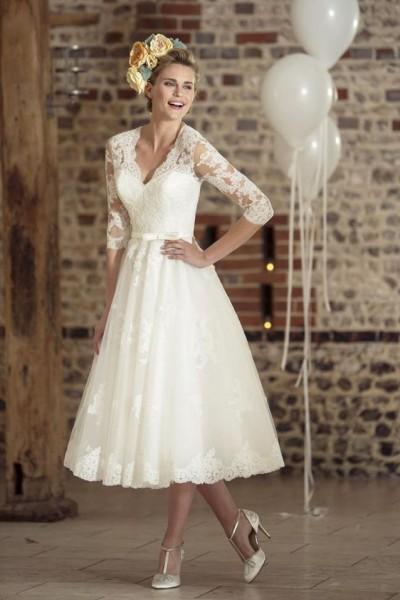 53e03d74f8028 فإن كنت عروس وتنوين إقامة حفل زفاف قريبا فما رأيك في الإتجاه إلى فستان زفاف  قصير ومختلف، كما نشرها موقع