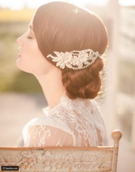 تسريحة مذهلة للعروس 3910912922
