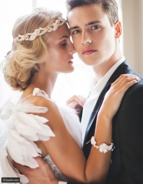 تسريحة مذهلة للعروس 3910912925