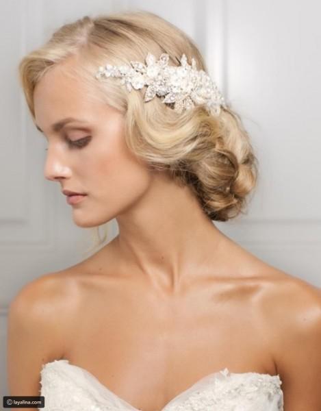 تسريحة مذهلة للعروس 3910912926