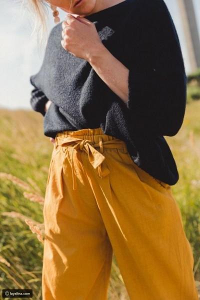 اللون الأصفر الخردلي يتربع على عرش موضة شتاء 2018  3910930678