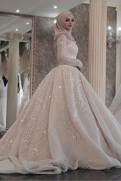 فستان زفاف مناسب لحجابك. 3910938932