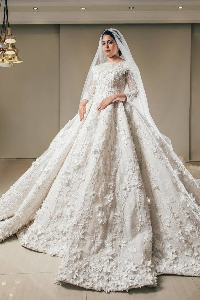 فستان زفاف مناسب لحجابك. 3910938934