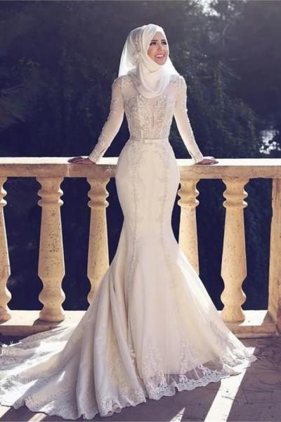 فستان زفاف مناسب لحجابك. 3910938940