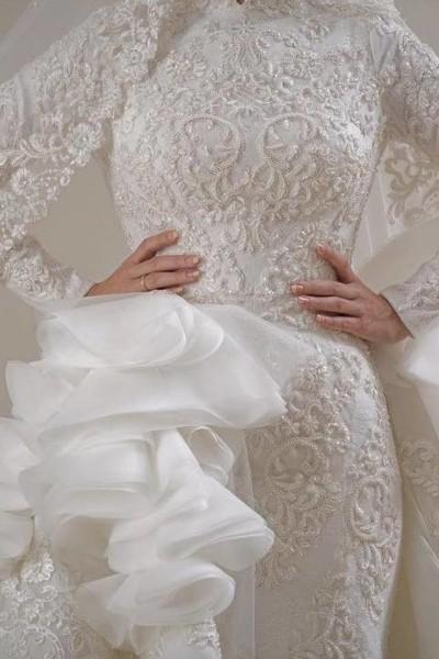 فستان زفاف مناسب لحجابك. 3910938943