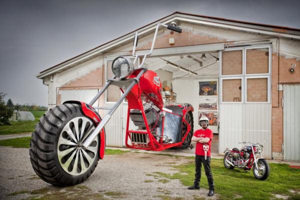 أطول دراجة نارية العالم يمكن