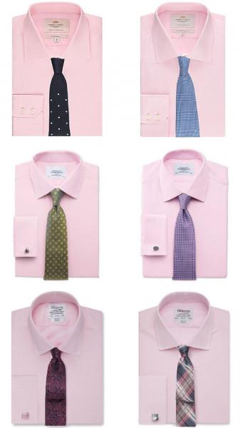 طريقة تنسيق ألوان القمصان ربطات