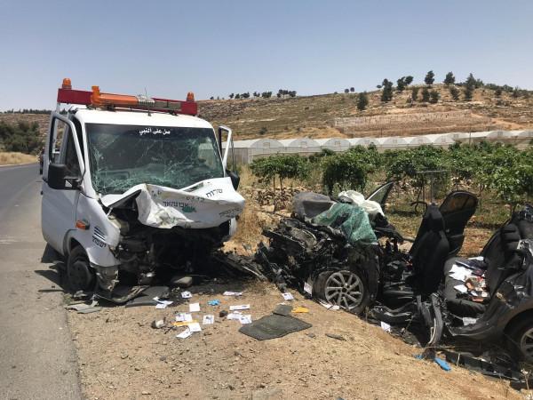 مصرع سائق من النقب وإصابة 4 في حادث طرق جنوب الخليل