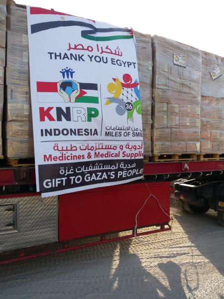 وصول الدفعة الثانية من المساعدات الطبية المقدمة من قافلة أميال من الابتسامات 36 إلى قطاع غزة