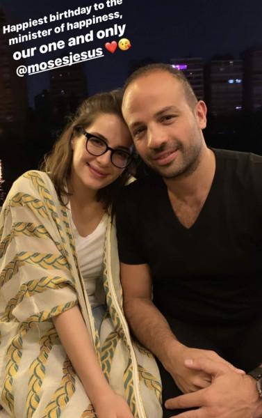 شام الذهبي ابنة أصالة نصري تنشر صورة جمعتها مع شاب ووصفته بمصدر السعادة
