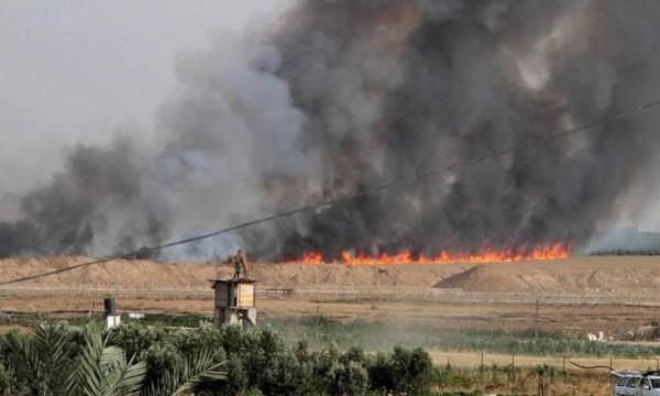 اندلاع عدة حرائق بمستوطنات غلاف غزة بفعل بالونات حارقة
