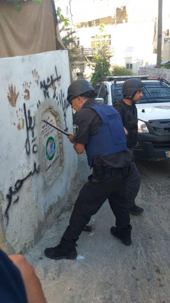قوات الاحتلال تُزيل نُصباً تذكارياً للشهيد عبيد بالعيساوية