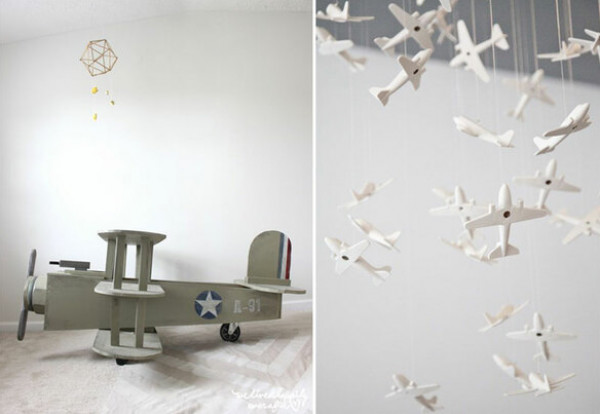 أفكار لديكور غرفة الطفل مستوحاة عالم الطيران