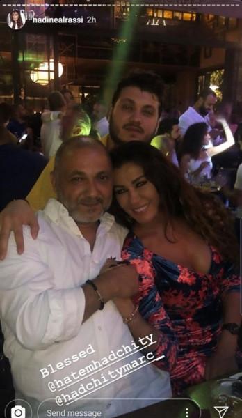 الفنانة اللبنانية نادين الراسي تحتفل يوم أمس بعيد ميلادها ال 40